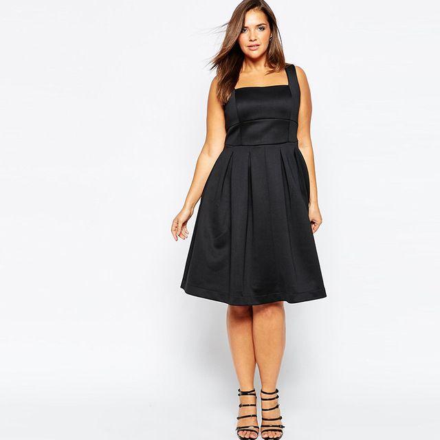 Plus tamaño vestidos de las mujeres negras vestidos sólido fuera del hombro bodycon vestidos hasta la rodilla vendaje delgado elegante summer dress