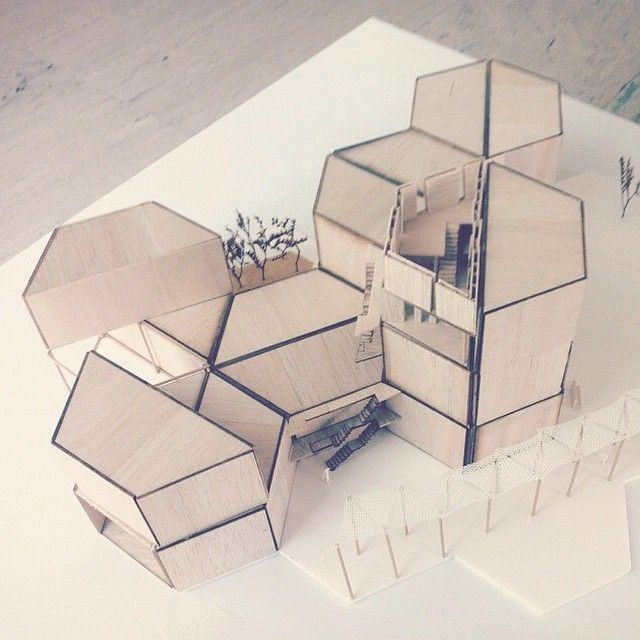 { hexagons } // spatial modeling // awesome model by @anamimar ▲ #iarchitectures #architecture #archilovers #arquitectura #architettura #architectural #architects #architecturestudent #architecturemodel #architectureschool #sketch #rendering #handrender #doodle #drawing #art #modelmaking #maquette #maqueta