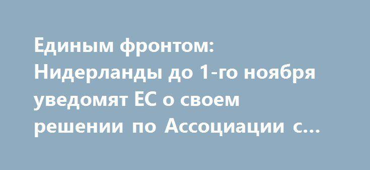 Единым фронтом: Нидерланды до 1-го ноября уведомят ЕС о своем решении по Ассоциации с Украиной http://rusdozor.ru/2016/09/23/edinym-frontom-niderlandy-do-1-go-noyabrya-uvedomyat-es-o-svoem-reshenii-po-associacii-s-ukrainoj/  Парламент Нидерландов поздней ночью принял решение, обязывающее правительство страны до 1 ноября определиться с позицией по Соглашению об ассоциации Украины с Евросоюзом. Показательно, что постановление поддержали как так называемые проукраинские силы парламента, так и…