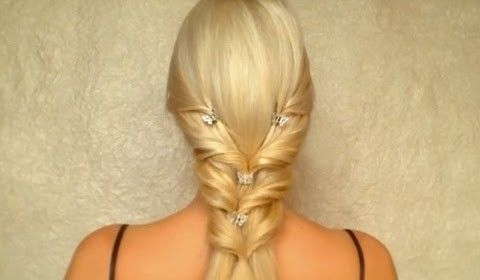 Valentines day prom wedding hairstyle for long straight hair tutorial