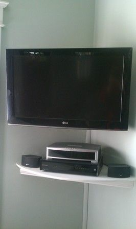 Floating TV Component Shelf Use Cover In Back For Wires Part 35