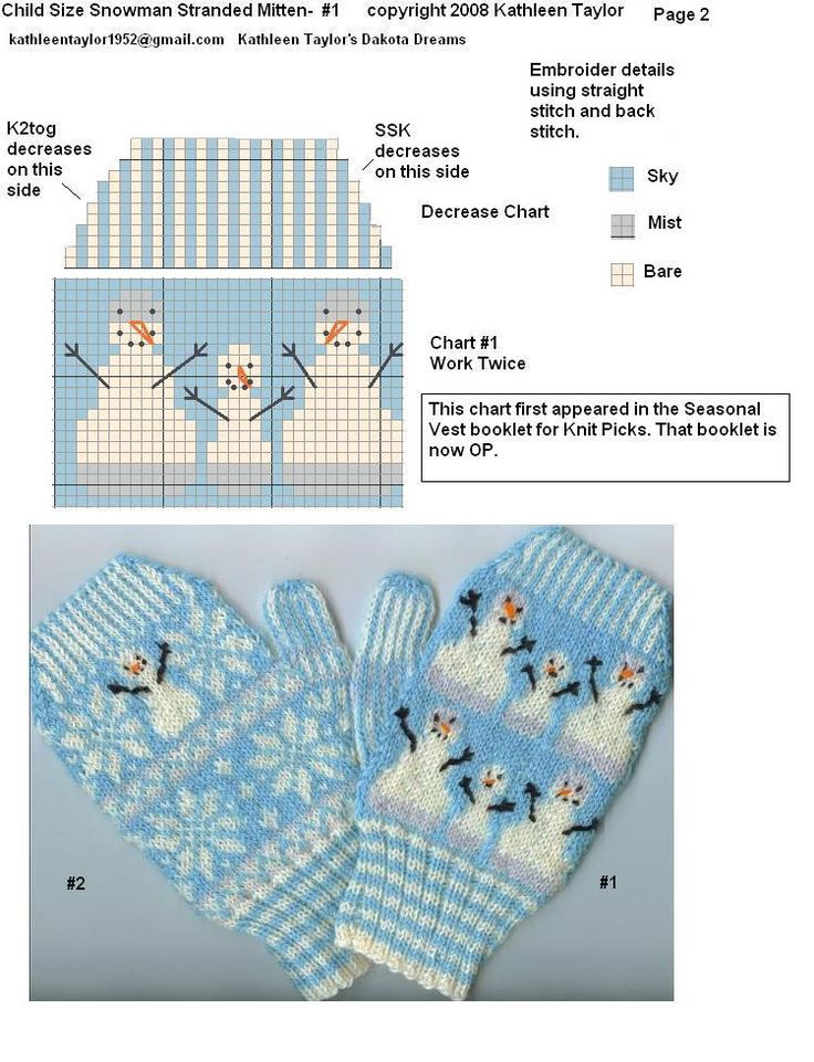 Жаккардовые узоры для варежек спицами - схемы