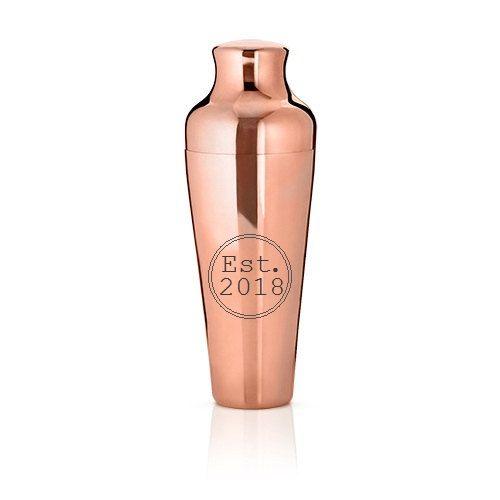 Mercer™ coctelera cobre por Viski, padrinos de boda regalo, regalo para él, agitador personalizado, boda, coctelera, seattle, agitador de cobre