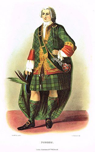 """Clans & Tartans of Scotland by McIan - """"FORBES"""" - Lithograph -1988"""