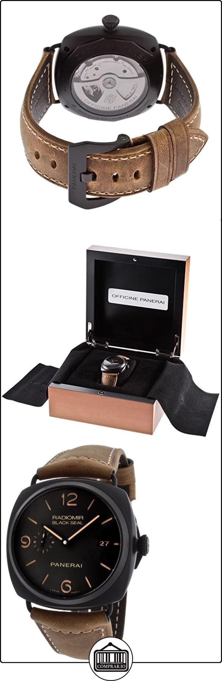Hombre Radiomir Negro Sello automático negro Dial marrón piel auténtica de  ✿ Relojes para hombre - (Lujo) ✿