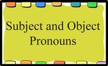 Activities, worksheets, games and lessons about subject and object pronouns for English teachers to use in the classroom.