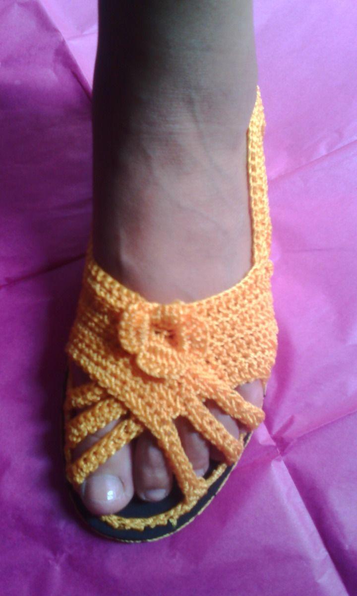 Resultado de imagen para sandalias tejidas en crochet