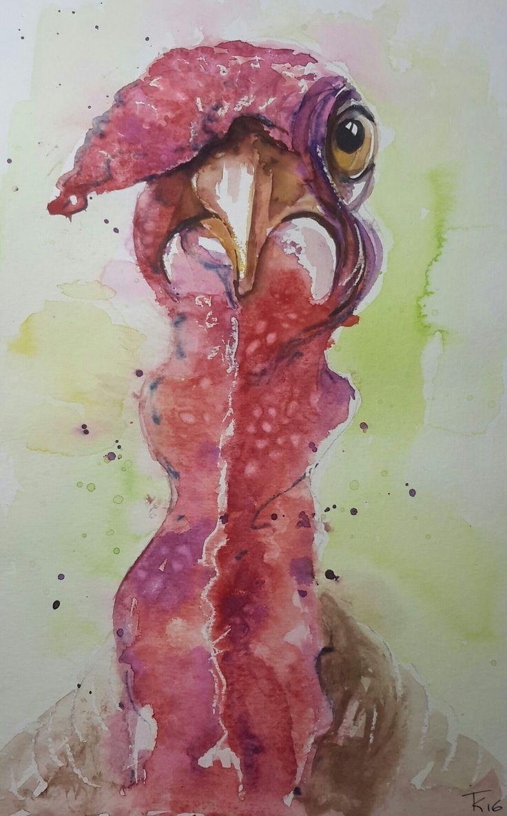 aquarel kalkoen