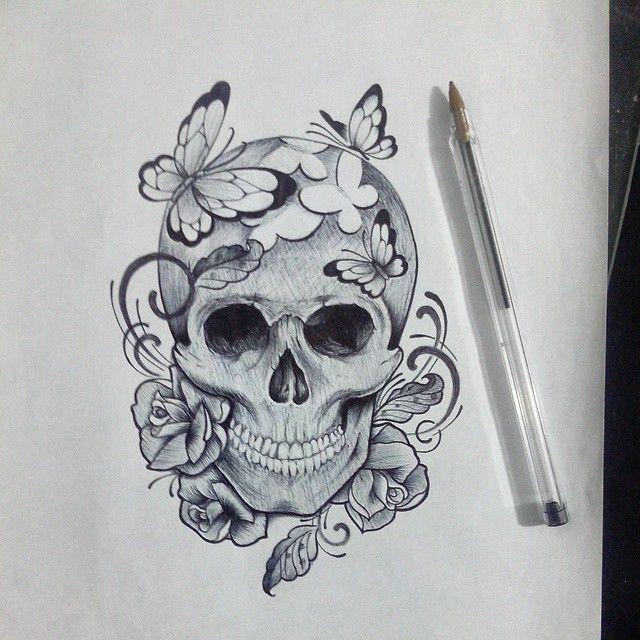 Best 25+ Skull Butterfly Tattoo Ideas On Pinterest