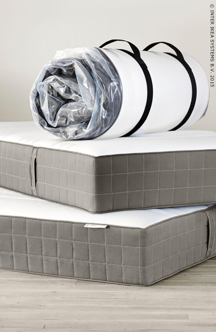 h v g matelas ressorts ensach s ferme gris fonc 140 x. Black Bedroom Furniture Sets. Home Design Ideas