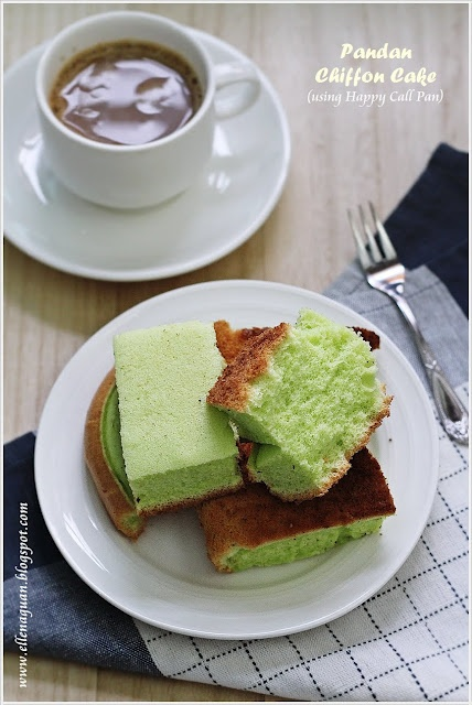 Cuisine Paradise | Singapore Food Blog - Recipes - Food Reviews - Travel: Chiffon Cakes Using Happy Call Double-sided Pressure Pan