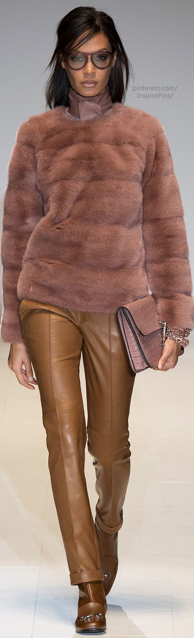 "Fall 2014 Ready-to-Wear Gucci intimate Julie Christie, the famous actress in the ""swinging London"" period of the 1960s"