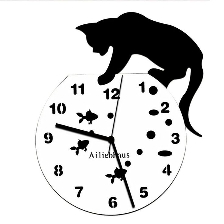 cheap ailiebhaus chat horloge pendule mural mode silencieux pour chambre salon amazonfr with. Black Bedroom Furniture Sets. Home Design Ideas