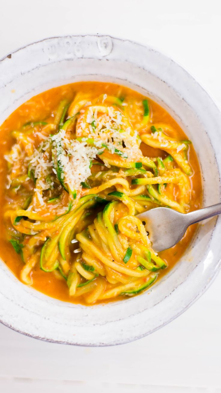 Roasted Red Pepper Pasta  Easy vegetarian pasta that's great for a weeknight dinner ... or whenever.