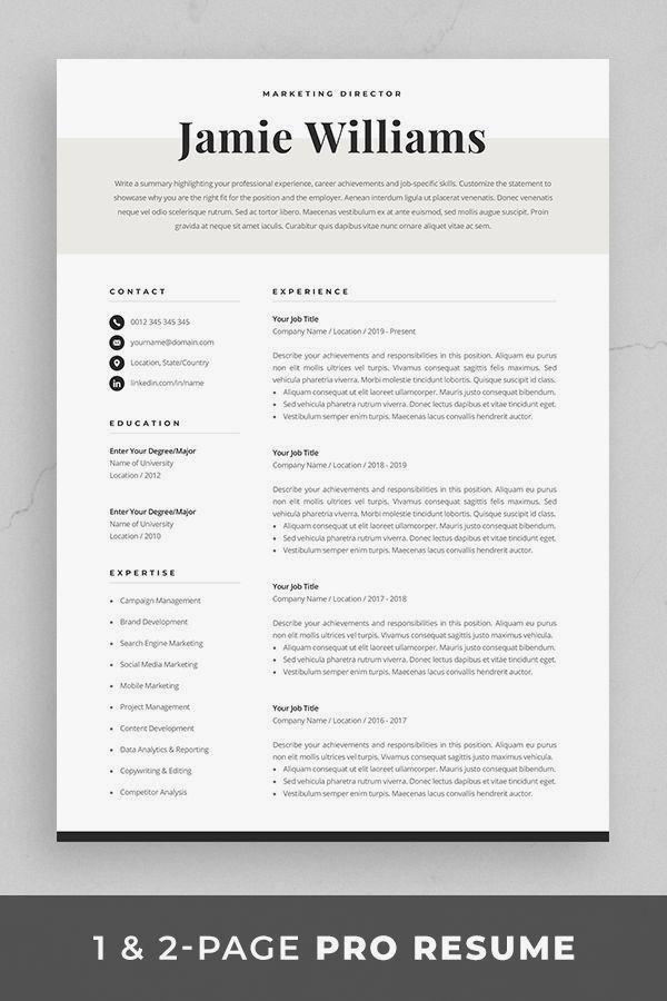 33 Nice Cv Template Marketing 2019 Resume Template Ideas Of Resume Template Resumetemplate 12 Spec In 2020 Resume Template Resume Template Word Resume Design