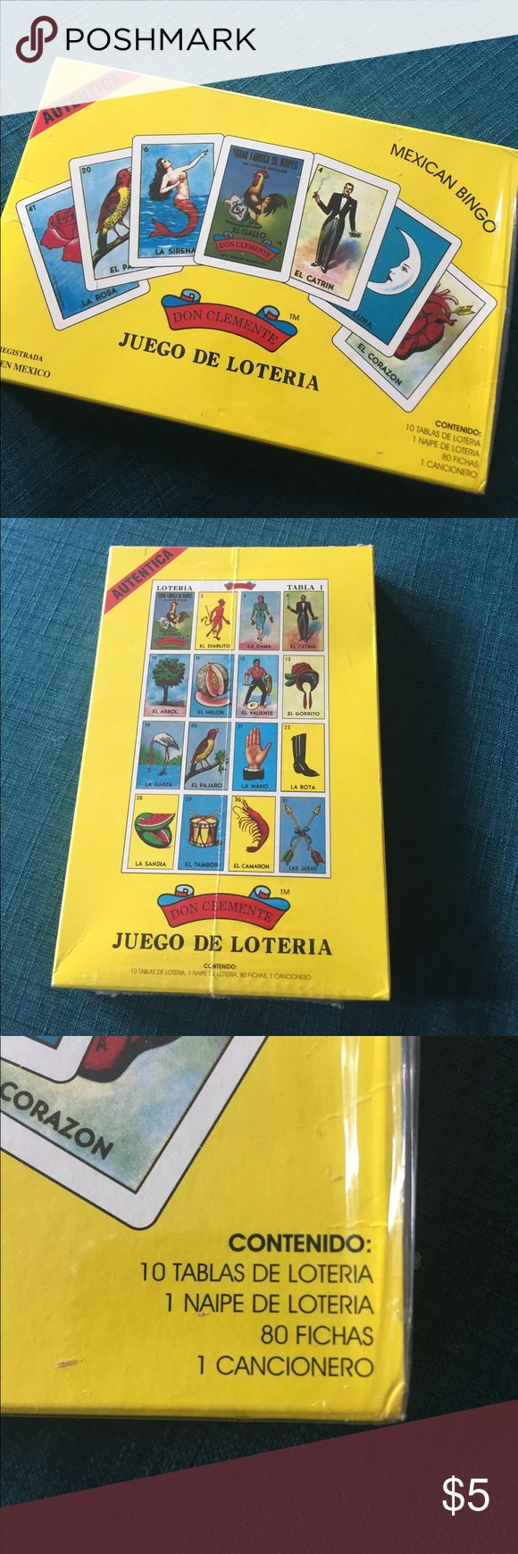 Juego de Loteria (Mexican Bingo) Unopened box of Mexican loteria bingo game.  Great for bundling! Accessories