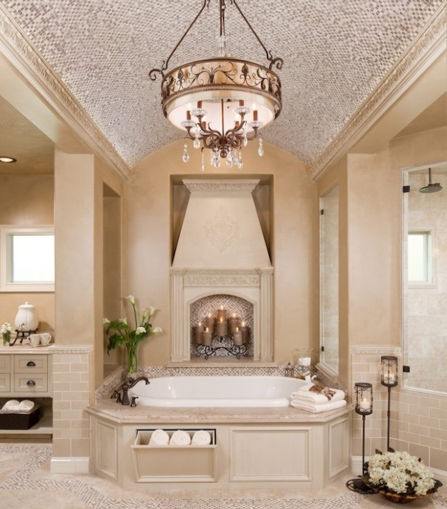 111 Best Elegant Bathroom With Fireplace Images On Pinterest