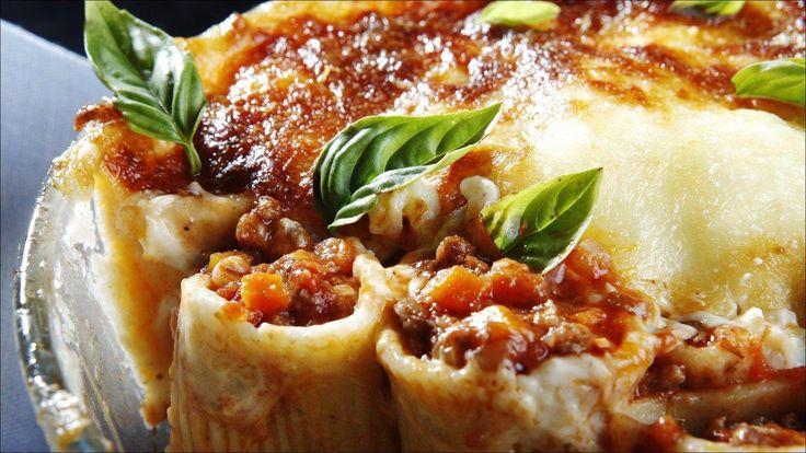 Gratinert pasta bolognese