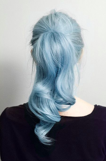 Col blue hair -- might be a funky alternative for when your hair goes really grey...