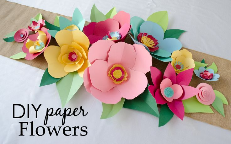 DIY Paper Flowers (includes tutorial and printable templates) - perfect DIY party or baby shower decor!