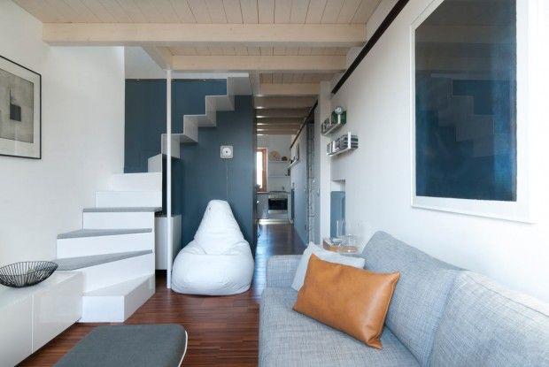 Tandartspraktijk wordt klein appartement met zonnige keuken - Roomed