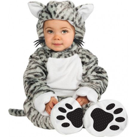 Disfraz de Gatito gris para Bebé #Gato #Animal #Disfraz