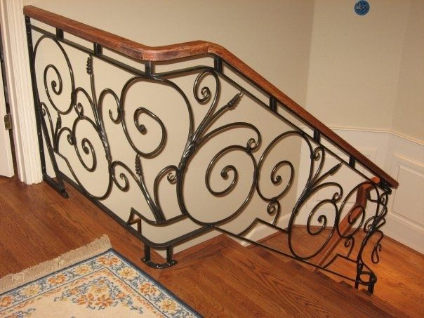 Handmade Wrought Iron Railing by May Tower Forge | CustomMade.com