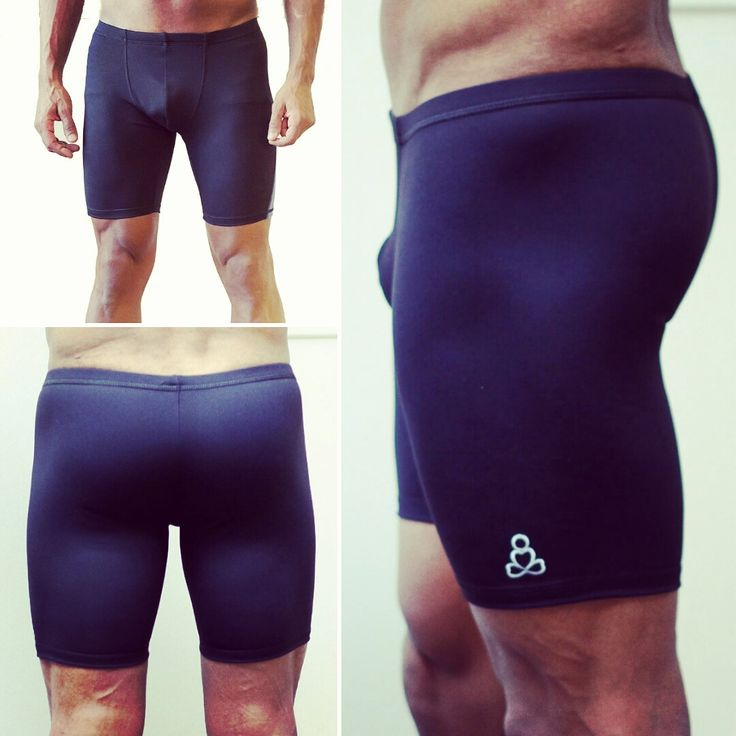 Men's Padmasana Yoga shorts Maxi Length- 8'' inseam. Featuring a front gusset fully lined to give you extra support.