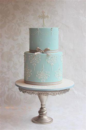 elegant christening cake