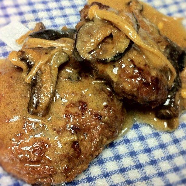 Finished ginger hamburguers. Delicious :)