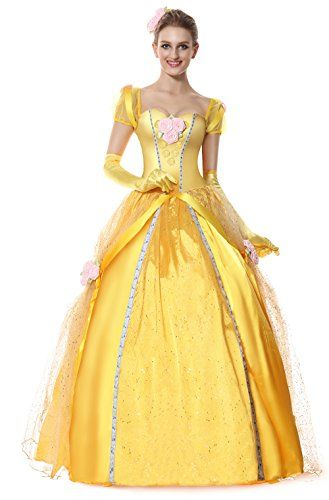 Women's Deluxe Princess Belle Costume - standard to plus size