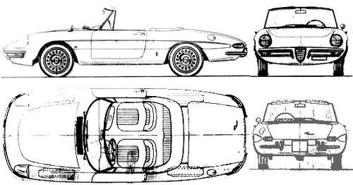 Alfa Romeo Spider Duetto (avec images)