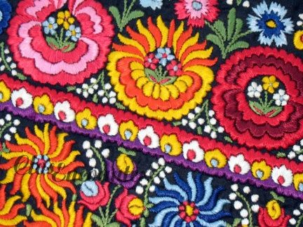 Embroidery Hungarian Magyar Matyo Folk Art by closencounters...colors for my wedding!