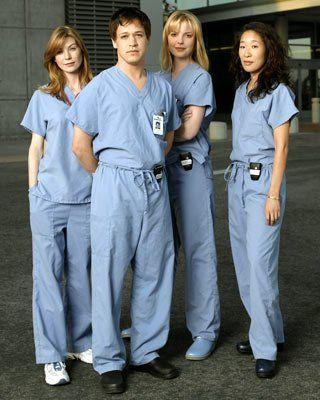 Katherine Heigl, Sandra Oh, Ellen Pompeo and T.R. Knight in Greys hvide verden