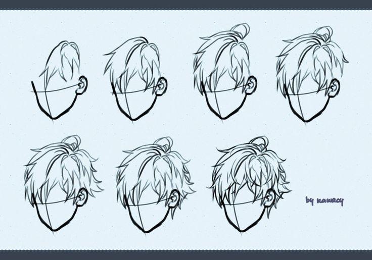 Drawing male hair by kawacy on DeviantArt