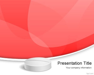 Pills PowerPoint Template is a free medicine PowerPoint background design for your medical presentations with a pill illustration and red background color