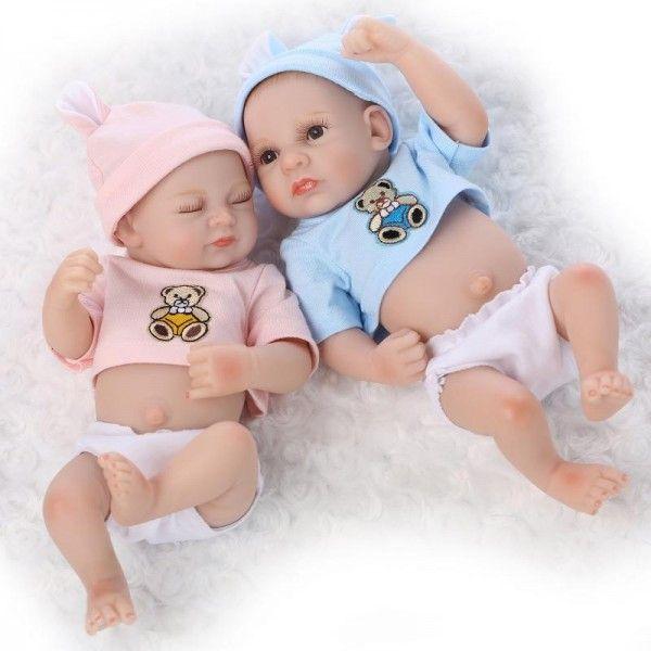 10 Inches Reborn Dolls Full Body Silicone Cute Reborn Baby Twins Dolls Reborn Baby Dolls Twins Baby Dolls Reborn Baby Dolls