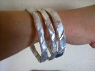 pulseras de material reciclado