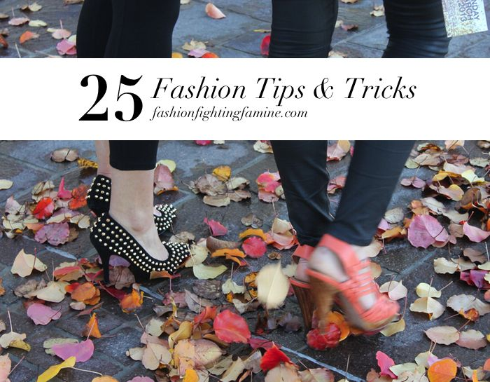 25 Fashion Tips & Tricks - Safety pins as necklace extenders, luxe shawls as furniture throws, and more.