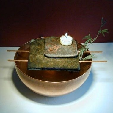 Art Matters Asian Candle Tabletop Fountain - NCASI