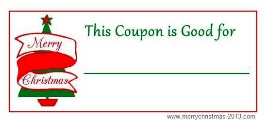 Free Christmas Coupons Printable Template Blank Christmas