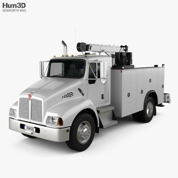 3d Model Of Kenworth T300 Heavy Service Truck 2006 Kenworth Trucks Kenworth Trucks