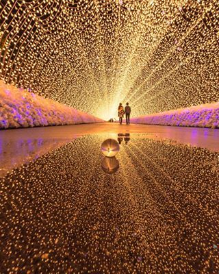 This tunnel of lights. | 26 Photos That Will Make You Want To Spend 2017 Travelling