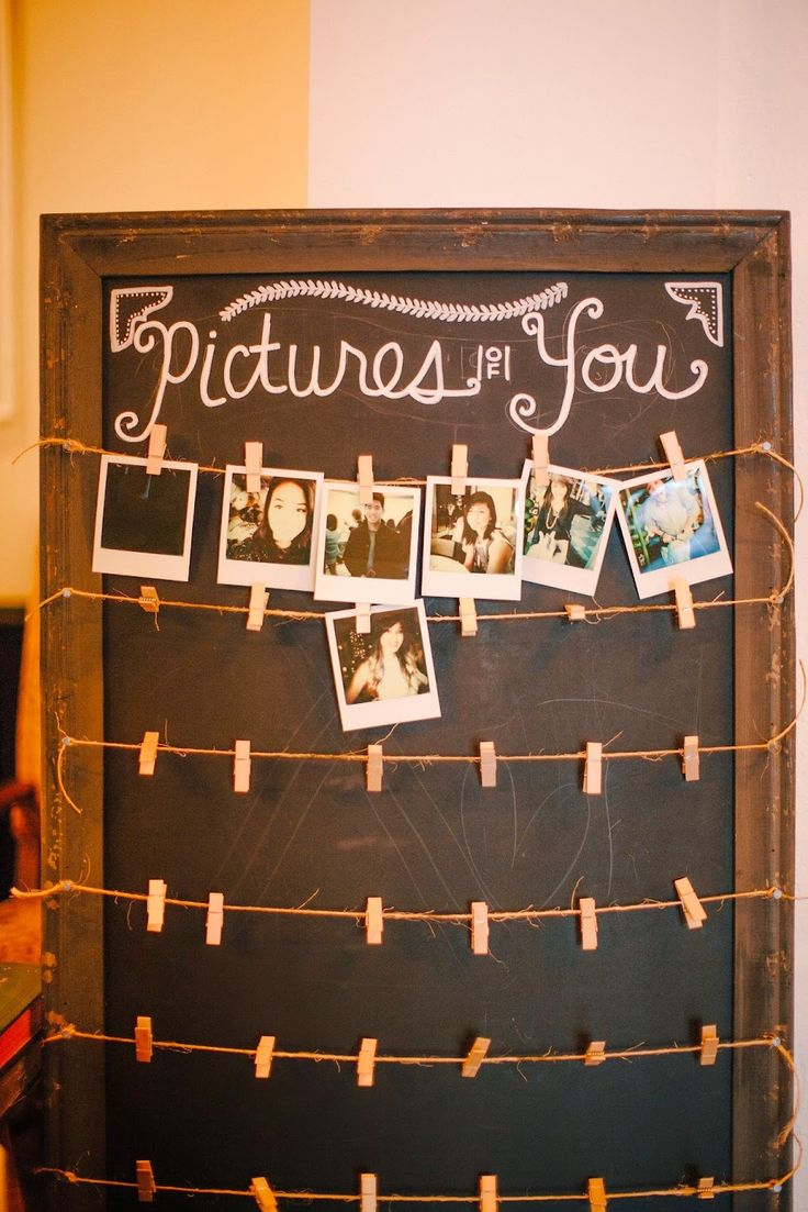 Polaroid camera at the sign-in table for guests to take photos to display on this cool board: Mad Love Events - Wedding & Event Coordination
