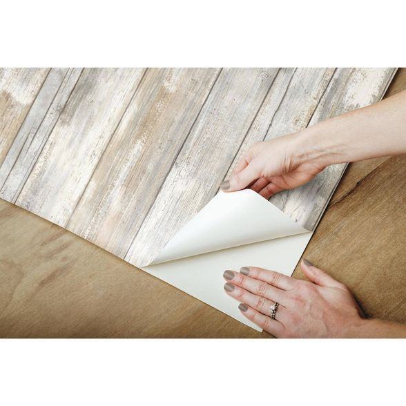 Reclaimed Wood Peel Stick Wallpaper Brown Threshold Peel And Stick Wallpaper Peel And Stick Wood Reclaimed Wood