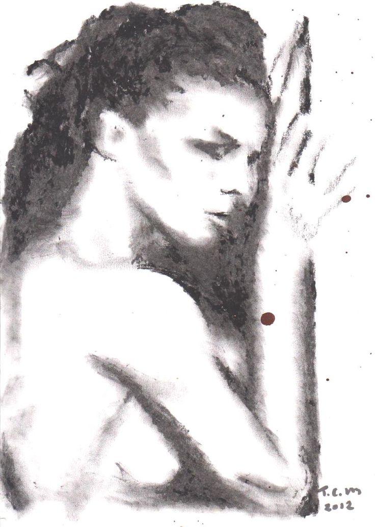 """""""Lady1"""" Charcoal on paper A4"""