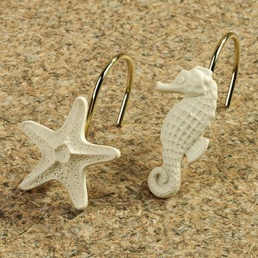 Coral Shower Curtain Hooks. Coral Beach Shower Curtain Hook Set by Croscill  Touch of Class 84 best Curtains Hooks images on Pinterest