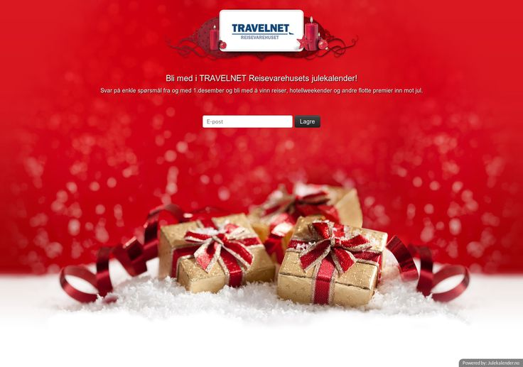 Sjekk ut TRAVELNETs julekalenderen Svar på enkle spørsmål og vinn premier