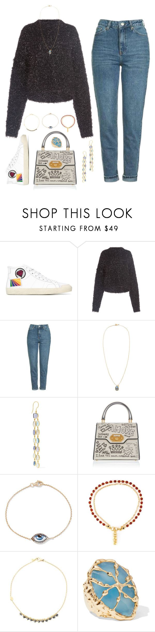 """LOCATION"" by anaandpizza ❤ liked on Polyvore featuring Yves Saint Laurent, Isabel Marant, Topshop, Pippa Small, Dolce&Gabbana, lito, Astley Clarke, Natasha Collis and Rosantica"