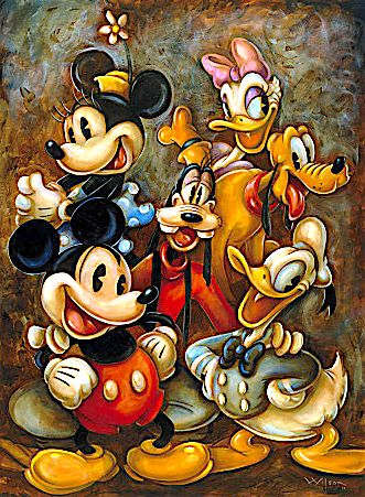 ✶ ''Mickey Mouse and Friends'' by Darren Wilson ★